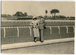 FOTOGRAFIA ORIGINALE SU CARTONCINO IPPODROMO DELLE CAPANNELLE DERBY ANNO 1948 ROMA - Sport
