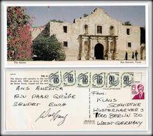 USA Ganzsache - The Alamo San Antonio Texas - Grüße Postkarte Nach Berlin - 100 % Original Item From His Era. - San Antonio