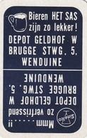 2 SPEELKAARTEN BIEREN HET SAS WENDUINE DEPOT GELDHOF - Playing Cards