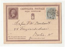 Italy Postal Stationery Postcard Cartolina Postale Posted 1876? Venezia To Berlin B200125 - 1878-00 Humbert I.