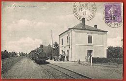 CPA  64- ARTIX - La Gare Avec Train- Personnel,Voyageurs- Voyagée 1927-- Scans Recto Verso- Paypal Sans Frais - Frankreich