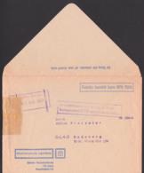 """Sendungsbeschädigung Gummist. """"in Posttechnischen Anlagen Beim Bahnpostamt 7005 Leipzig Beschädigt"""" Buchhaus - DDR"""