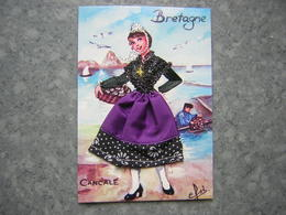 CARTE BRODEE - BRETAGNE - CANCALE - Brodées
