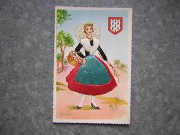 CARTE BRODEE - LIMOUSIN - Brodées