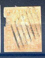 Suisse N°20 Oblitéré (2d Choix) - Cote 65€ - (F777) - Gebraucht