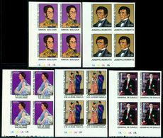 Chad 1977 Bolívar,Gaulle,Queen Wilhelmina,Baudouin,Fabiola,Mi.785 Imp,Bl. X4,MNH - Persönlichkeiten