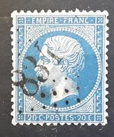 Empire Dentele No 22 Obl GC 834 De CHAILLY, Seine Et Marne,  Indice 6, TTB - 1862 Napoléon III