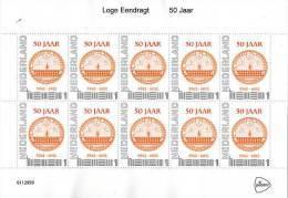 Personalised Masonic Stamps, Nederland, VelletjeLoge Eendragt 50 Jaar(Vrijmetselarij-F Reemasonry-Freimaurerei) - Franc-Maçonnerie