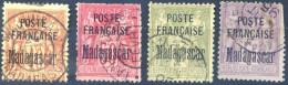 Madagascar N°18, 19, 21 Et 22 Oblitérés - Cote +330€ - (F786) - Oblitérés