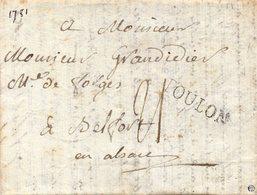 Var - LAC (datée 20/10/1781) Marque TOULON (Lenain 10)... Texte Intéressant... - Marcofilie (Brieven)