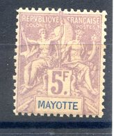 Mayotte N°14 Neuf* (rousseur) - Cote 145€ - (F787) - Nuovi