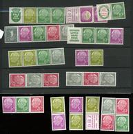 Heuss. Combinaisons De Carnets. Joli Pas Cher Car Sans Colle - Unused Stamps