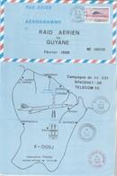 Avion CONCORDE Aérogramme  - Raid Aérien De Guyane 1988  - Tirage N°  600 - Concorde