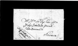 CG8 - Galliate - Bollo Stampatello Diritto Nero. - Lettera X Novara 26/6/1841 - Italy