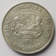 Singapore 10 Dollar 1978-1979 Communication Satellites KM # 17.1 - Singapore