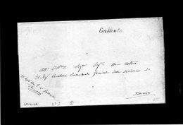 CG8 - Galliate - Bollo Corsivo Nero. - Lettera X Novara 30/6/1840 - Italy