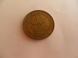 10 Pfennig 1980 F - 10 Pfennig