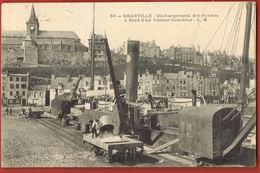 CPA GRANVILLE -Manche- Déchargement Des Pyrites à Bord D'un Vapeur-Caboteur- Circulée 1906-scans Recto Verso - Granville