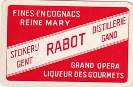 1 SPEELKAART LIKEUR GENT STOKERIJ RABOT  ROOD - Playing Cards
