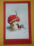 KOV 701-2 - NEW YEAR, Bonne Annee, Champignon, Mushroom - Montenegro