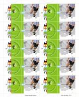 CAMPEONES DEL MUNDO DE FUTBOL DEL SIGLO XX ARGENTINA 2002 GOTTIG JALIL 3195 / 3196 MNH. PLANCHA COMPLETA FOOBALL - LILHU - Coupe Du Monde
