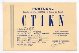 PORTUGAL CASINHA DA PAZ MURTAL S. PEDRO DO ESTORIL - CB RADIO - Radioamatore - Radioamateur - QSL - Short Wave - Carte QSL