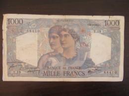 France - Billet 1000 Francs Cérès Et Mercure 31-05-1945 Y.19 - F.41.03 - TB- - 1 000 F 1927-1940 ''Cérès Et Mercure''