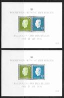 België/Belgique 1976xx - Blok's Postfris/Blocs Neuf - 2x BL51xx. - Blocks & Sheetlets 1962-....