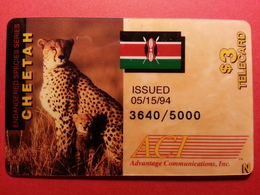 KENYA PRIVATE ACI GUEPARD CHEETAH DRAPEAU FLAG KENYA USA With Numbers (BA0220.2 - Kenya