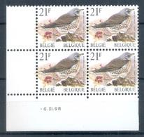BELGIE * Buzin * Nr 2792 * 6-11-98 * Postfris Xx * WIT  PAPIER - 1985-.. Birds (Buzin)