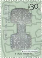 HACHA CEREMONIAL, CULTURA TEHUELCHE. ARGENTINA 2008 Y 2009 JALIL-GOTTIG: 3708 ARCHEOLOGIA ARQUEOLOGIA ARCHEOLOGY -LILHU - Archéologie