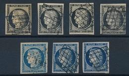 """DI-281: FRANCE: Lot Avec  """"CERES"""" N°3-3a-4-4a Obl - 1849-1850 Ceres"""