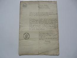 VIEUX PAPIERS - MANUSCRIT : Extrait Des Registres - Commune D'Antony - Manuscritos