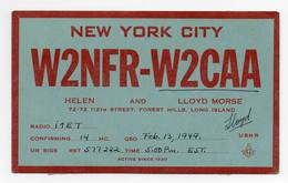 New York City Forest Hills Long Island Usa - CB RADIO - Radioamatore - Radioamateur - QSL - Short Wave - Carte QSL