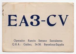 Barcelona Espana  - CB RADIO - Radioamatore - Radioamateur - QSL - Short Wave - Carte QSL