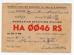 Budapest Hungary Hungarian - CB RADIO - Radioamatore - Radioamateur - QSL - Short Wave - Carte QSL