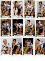 JEUX DE CARTES EQUIPE PROFESSIONNELLE 2000 FRANCAISE DES JEUX - COMPLET. + CARTES PHOTOS DES COURREURS - Cycling