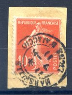 France Semeuse 10c. - TAD MARSEILLE LIGNE D'AJACCIO 1911 - (F822) - 1906-38 Semeuse Camée