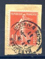 France Semeuse 10c. - TAD MARSEILLE LIGNE D'AJACCIO 1911 - (F822) - 1906-38 Sower - Cameo