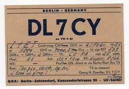 BERLIN GERMANY MUNICH  - CB RADIO - Radioamatore - Radioamateur - QSL - Short Wave - Carte QSL