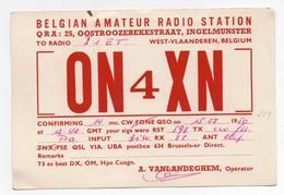 BELGIUM Belgian West Vlaanderen - CB RADIO - Radioamatore - Radioamateur - QSL - Short Wave - Carte QSL
