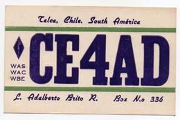 TALCA CHILE SOUTH AMERICA Retro Radio Club Santiago  - CB RADIO - Radioamatore - Radioamateur - QSL - Short Wave - Carte QSL