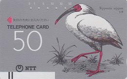 Télécarte Ancienne Japon / NTT 270-004 - OISEAU IBIS / 50 U - BIRD Japan Front Bar Phonecard - Vogel Balken TK - Japan