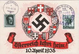 """III. Reich, Propaganda Karte """" Österreich Kehrt Heim !  """" - Guerre 1939-45"""