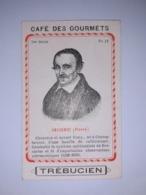 """Chromo Publicitaire """" Café  Des  Gourmets  TREBUCIEN """" /  Pierre  GASSENDI , Chanoine  Et  Savant  Français /  Vers 1880 - Tea & Coffee Manufacturers"""