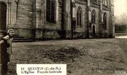 22 QUINTIN   Façade Latérale De L'Eglise - Edit J SOREL N° 11 - ENFANTS - Quintin