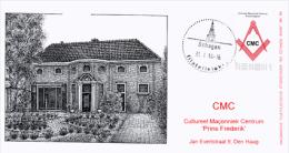 Masonic FDC Maçonnique: Nederland - CMC 'Prins Frederik' Den Haag  (Vrijmetselarij - Freemasonry - Freimaurerei) - Franc-Maçonnerie