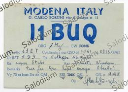 MODENA - CB RADIO - Radioamatore - Radioamateur - QSL - Short Wave - Carte QSL