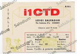 Sondrio - CB RADIO - Radioamatore - Radioamateur - QSL - Short Wave - Carte QSL