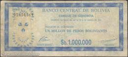TWN - BOLIVIA 192Ca - 1000000 1.000.000 Pesos Bolivianos 8.3.1985 05.654.569 VG/F - Bolivia
